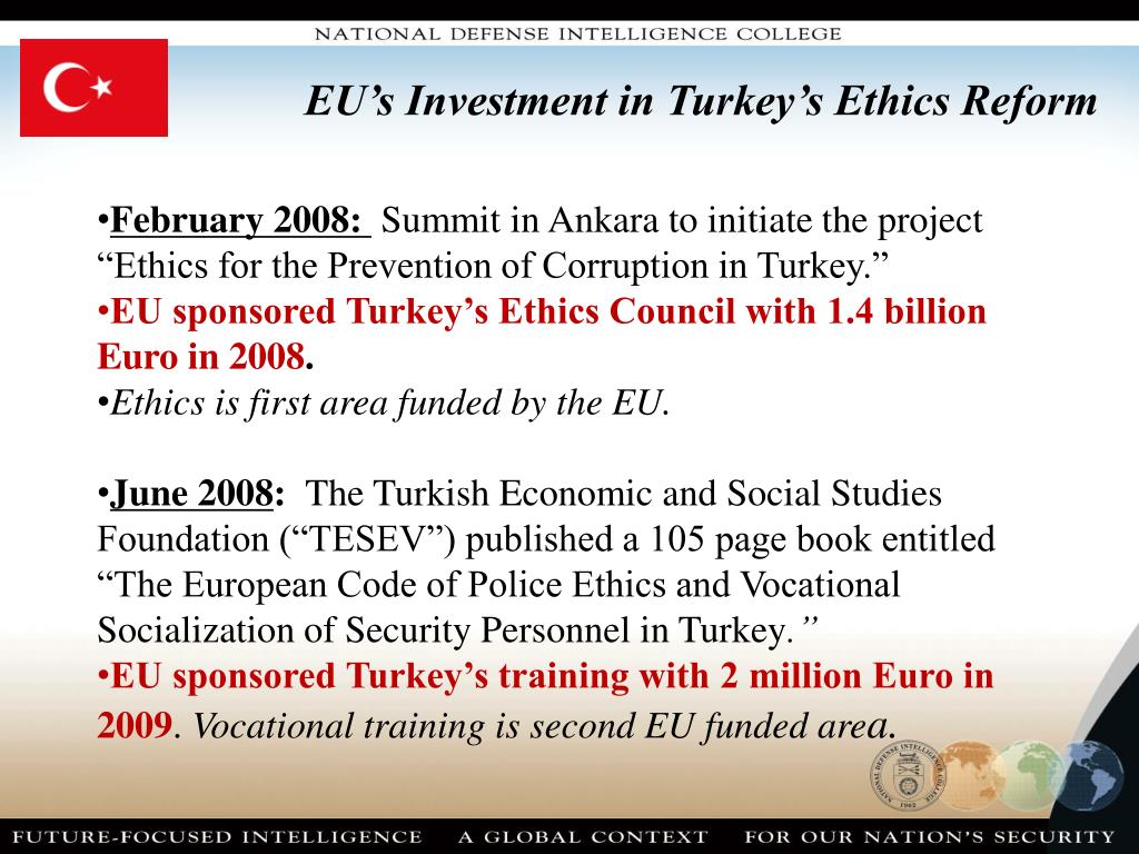 EU's Investment in Turkey's Ethics Reform