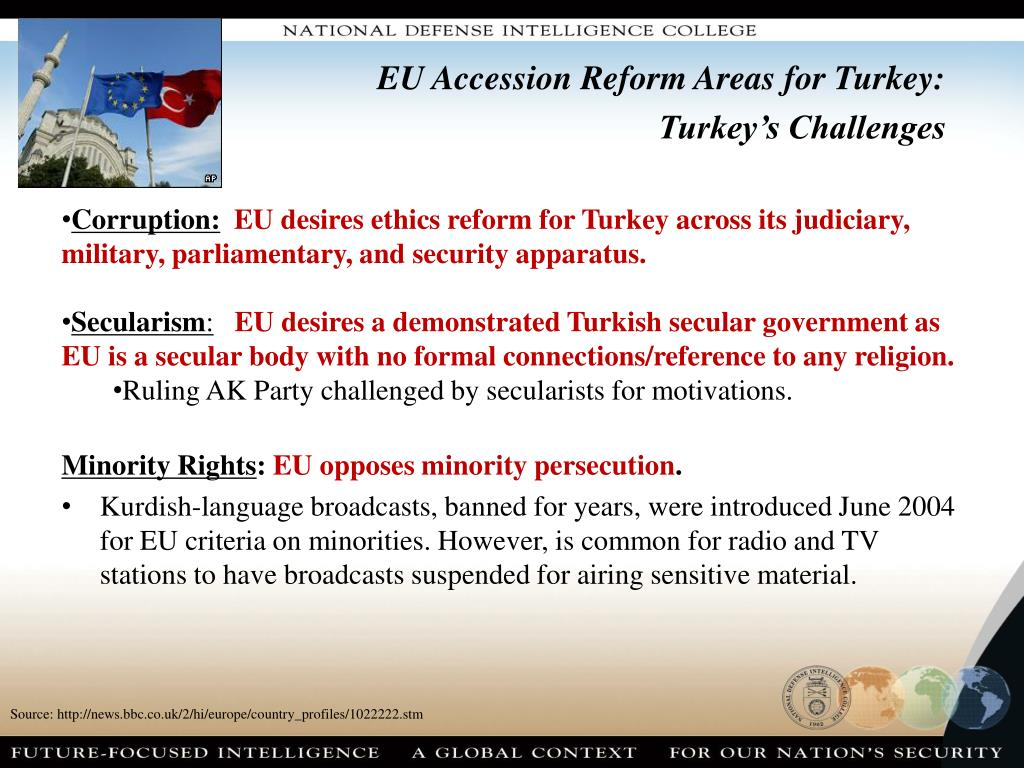 EU Accession Reform Areas for Turkey: