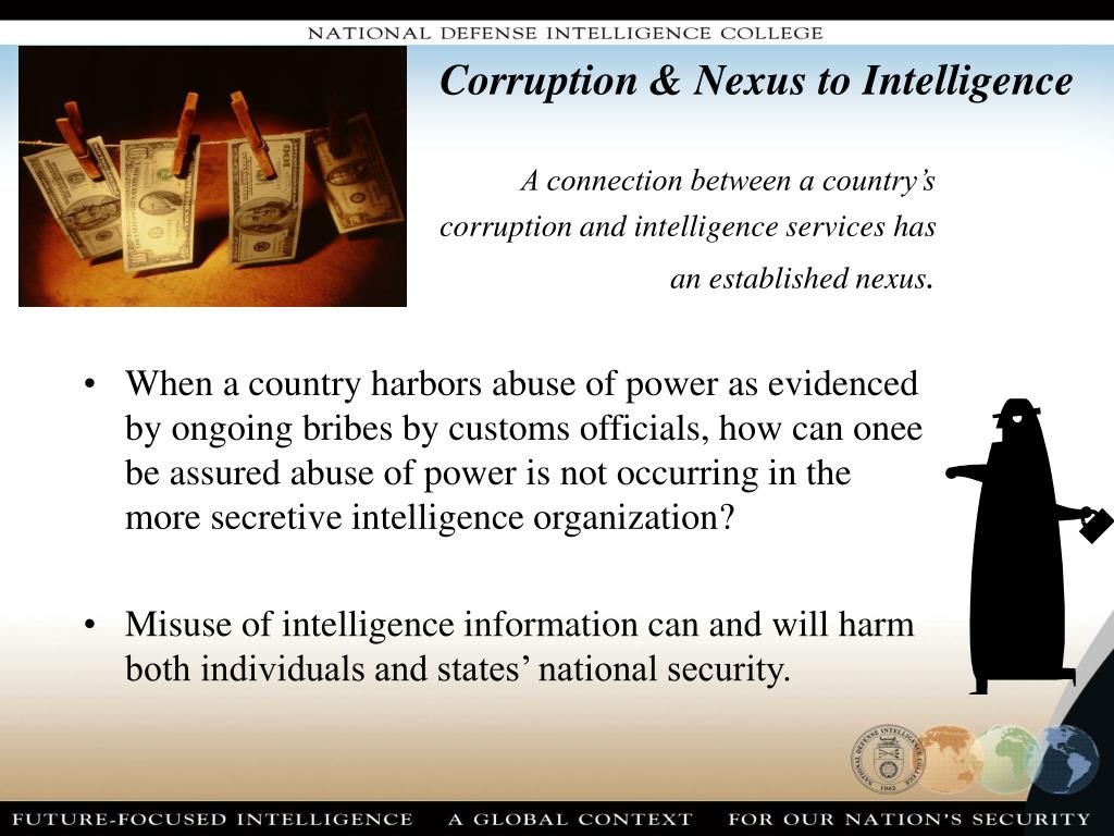 Corruption & Nexus to Intelligence