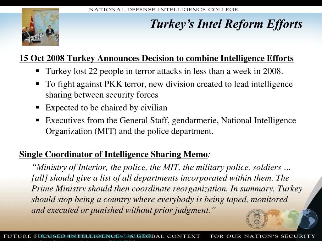 Turkey's Intel Reform Efforts