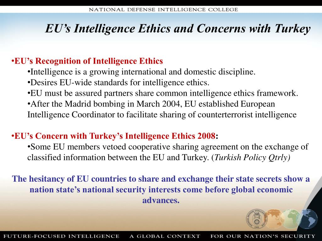 EU's Intelligence Ethics and Concerns with Turkey
