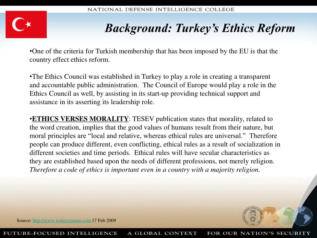 Background: Turkey's Ethics Reform