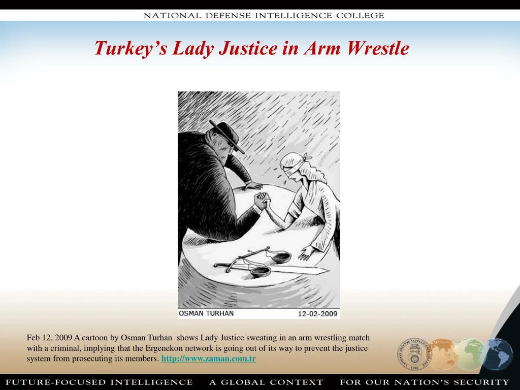 Turkey's Lady Justice in Arm Wrestle