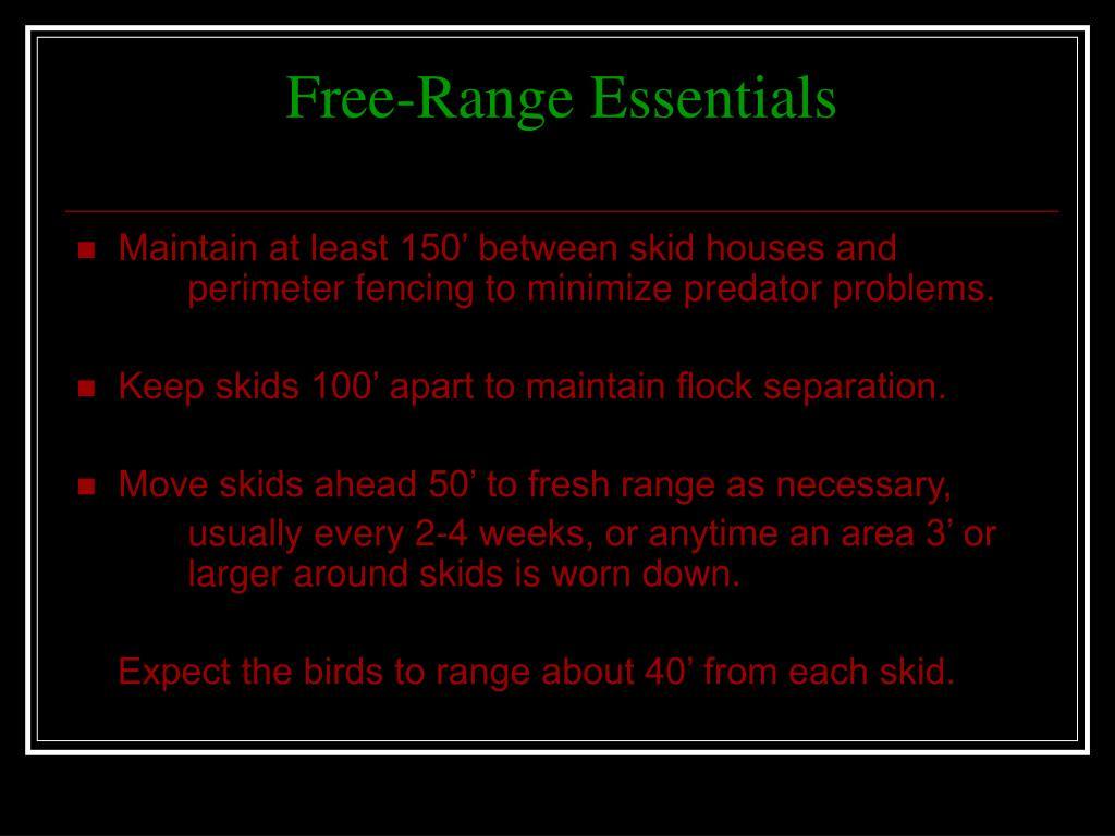 Free-Range Essentials