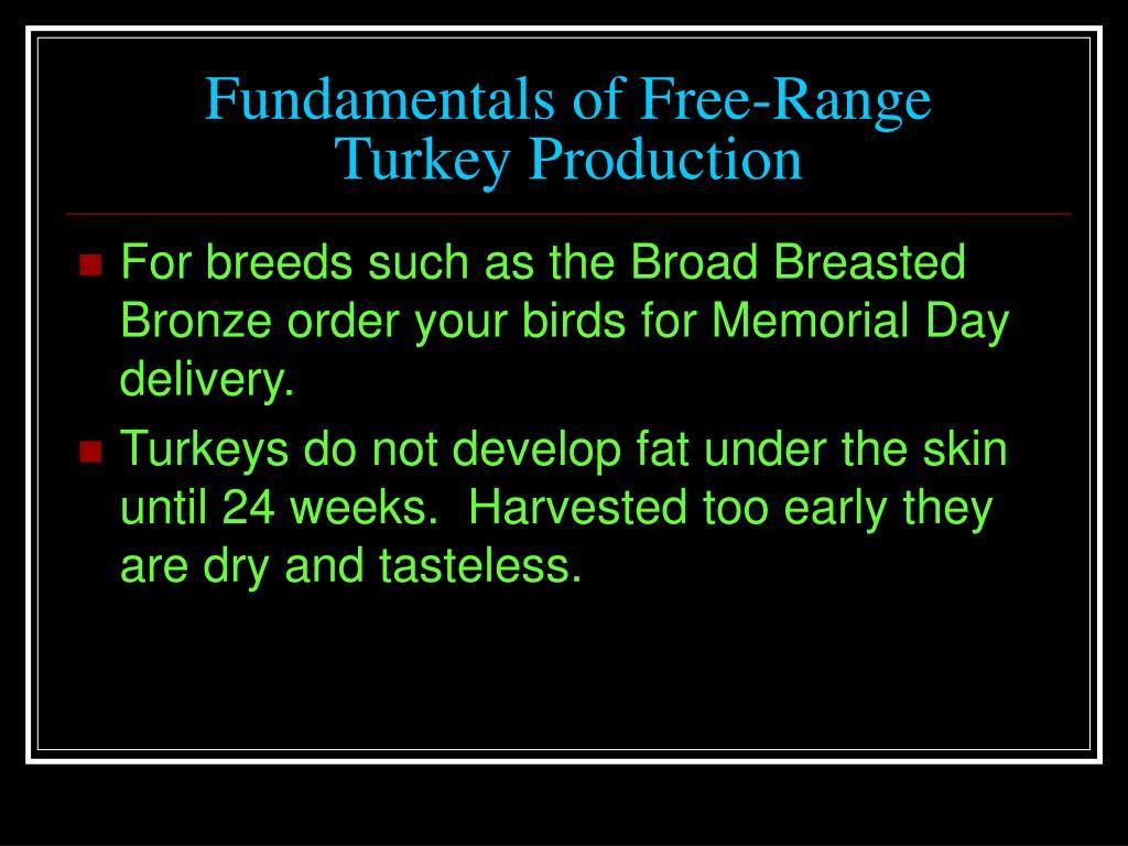 Fundamentals of Free-Range