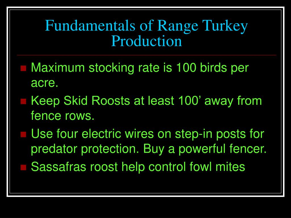 Fundamentals of Range Turkey
