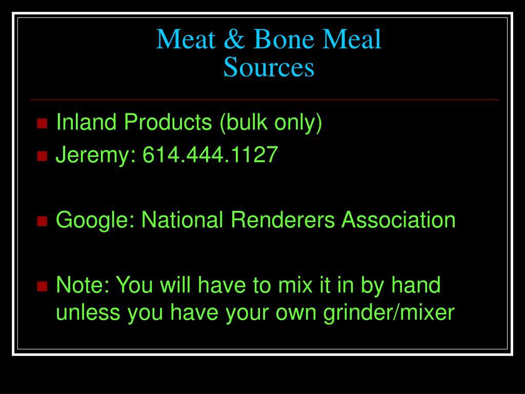 Meat & Bone Meal