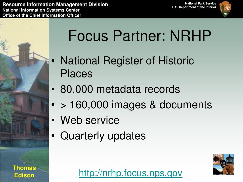 Focus Partner: NRHP