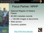 focus partner nrhp