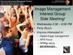 image management interest group side meeting