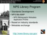 nps library program19