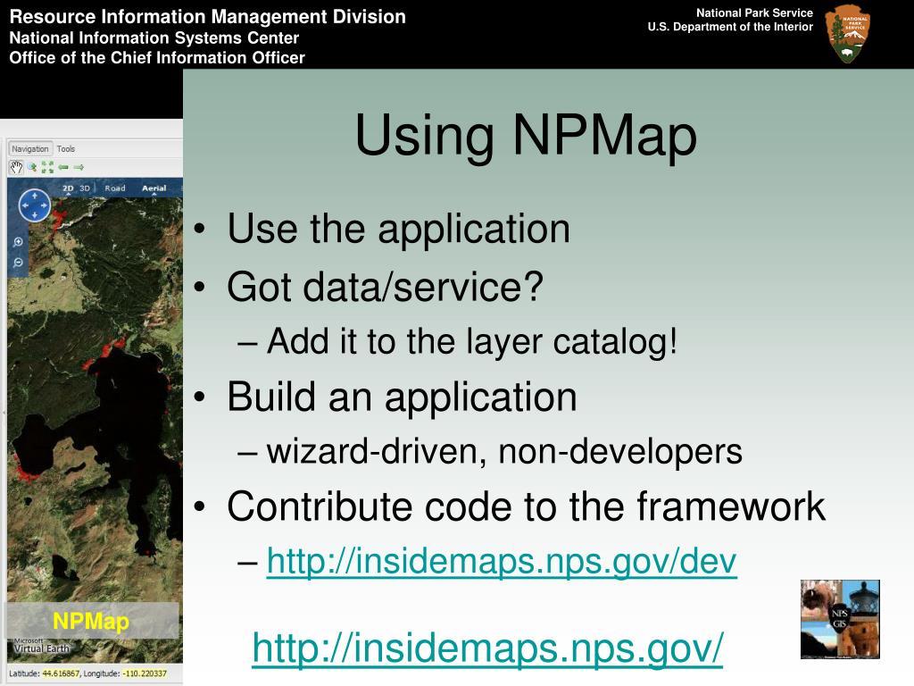 Using NPMap