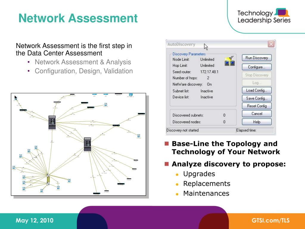 Network Assessment is the first step in the Data Center Assessment