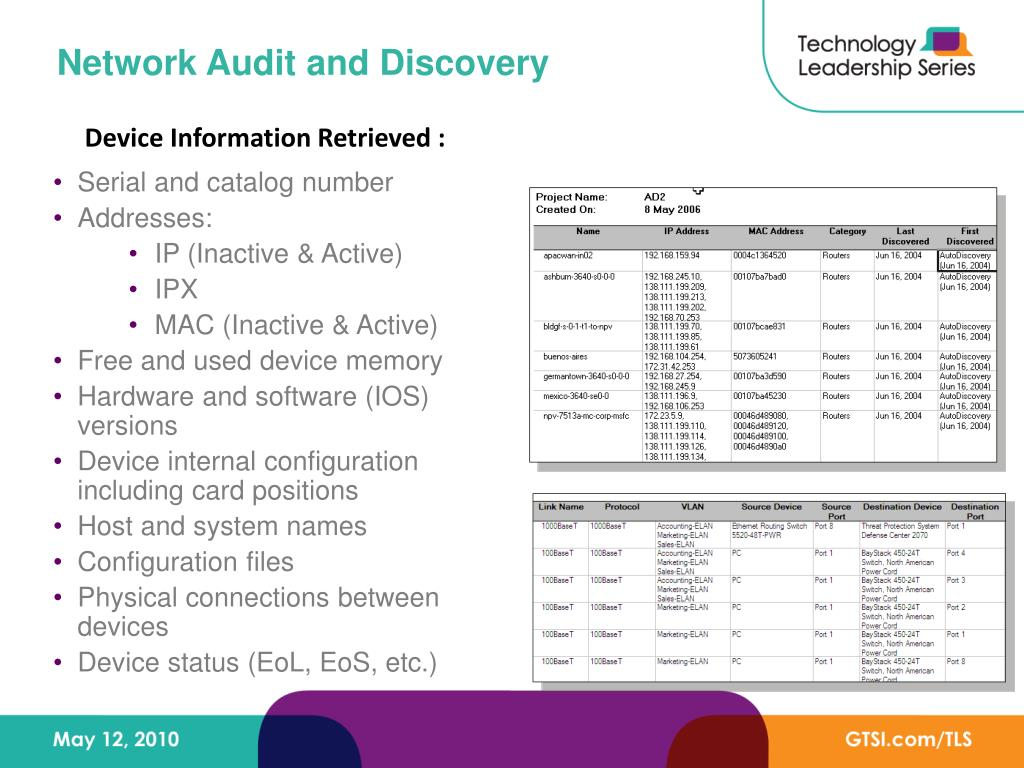 Network Audit and Discovery