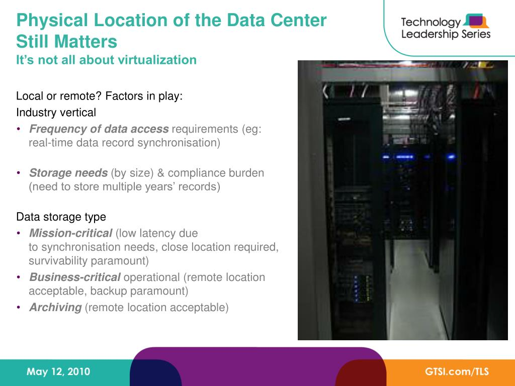Physical Location of the Data Center Still Matters