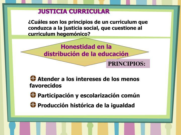 JUSTICIA CURRICULAR