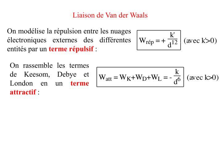 Liaison de Van der Waals