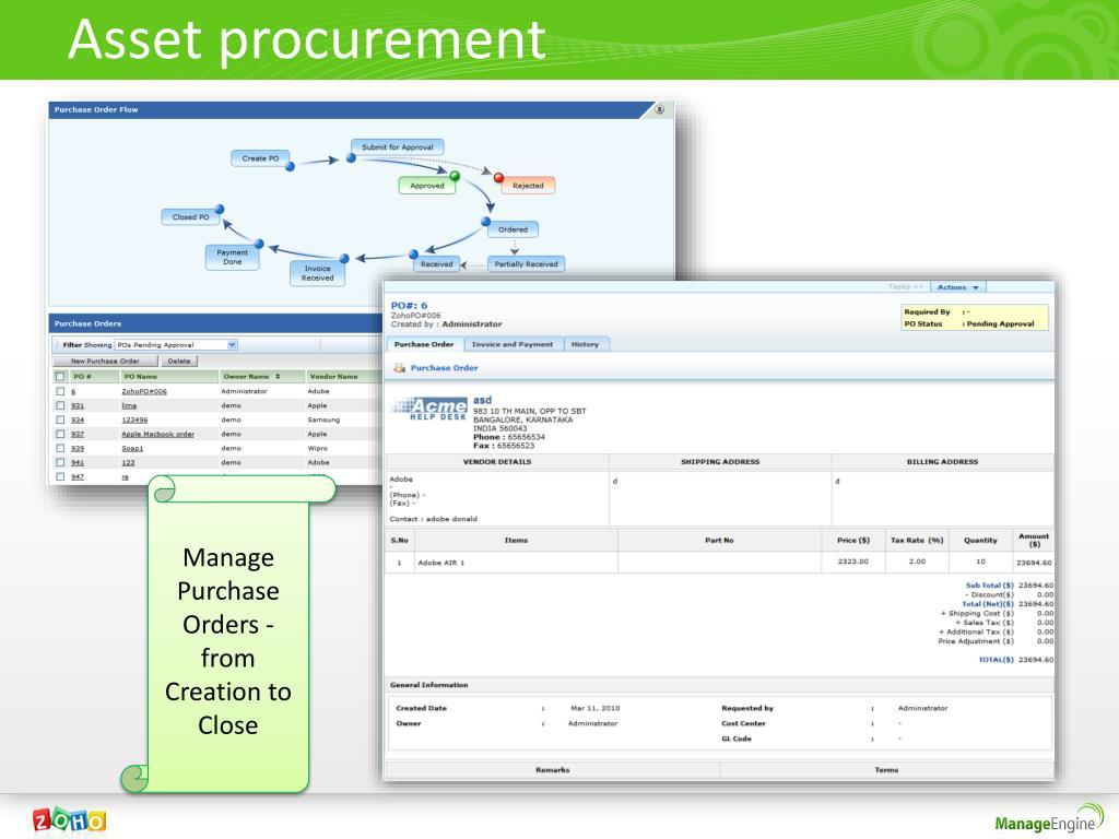 Asset procurement