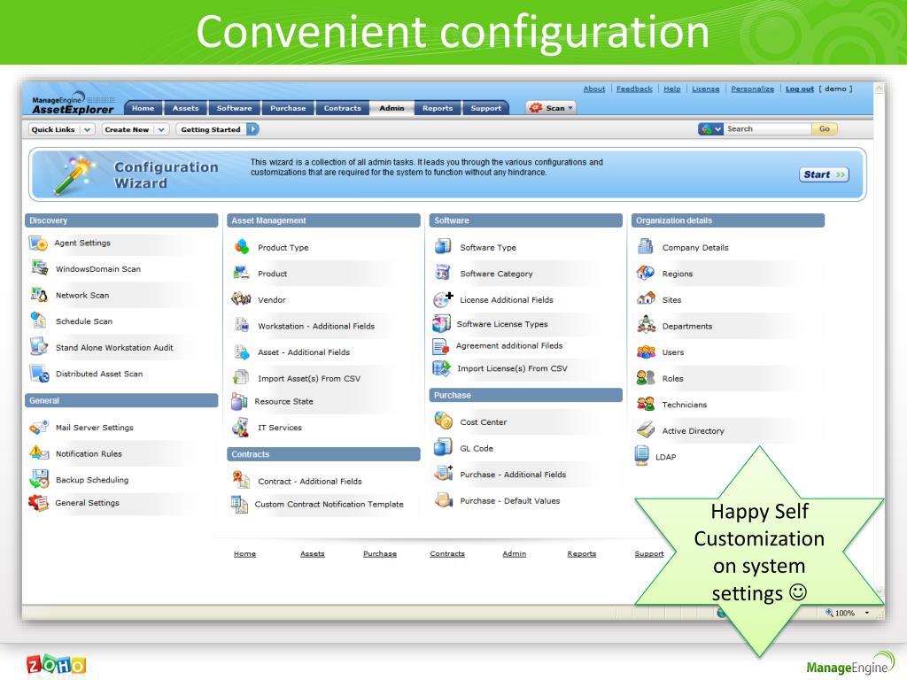 Convenient configuration
