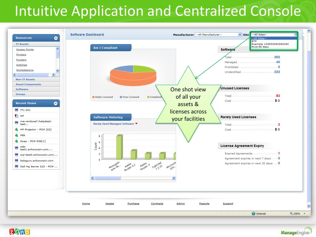 Intuitive Application and Centralized Console