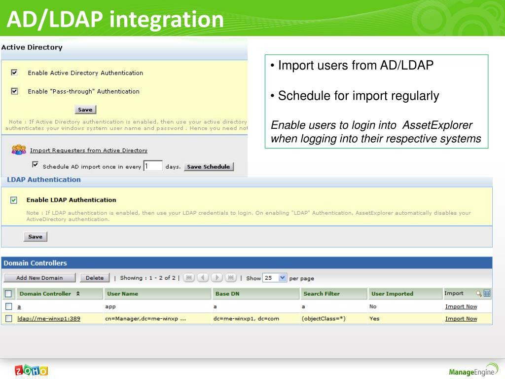 AD/LDAP integration