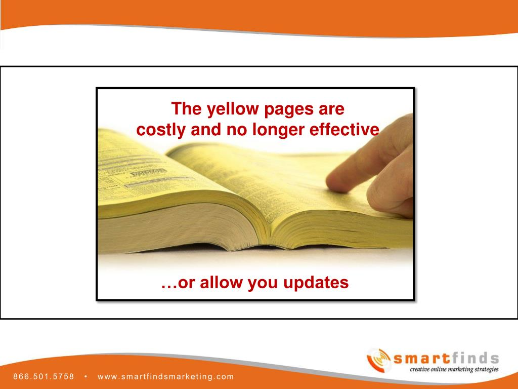 The yellow pages are