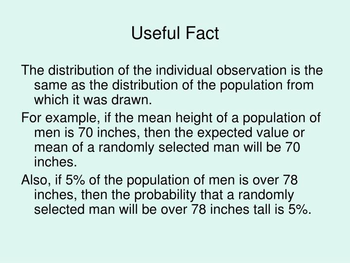 Useful Fact