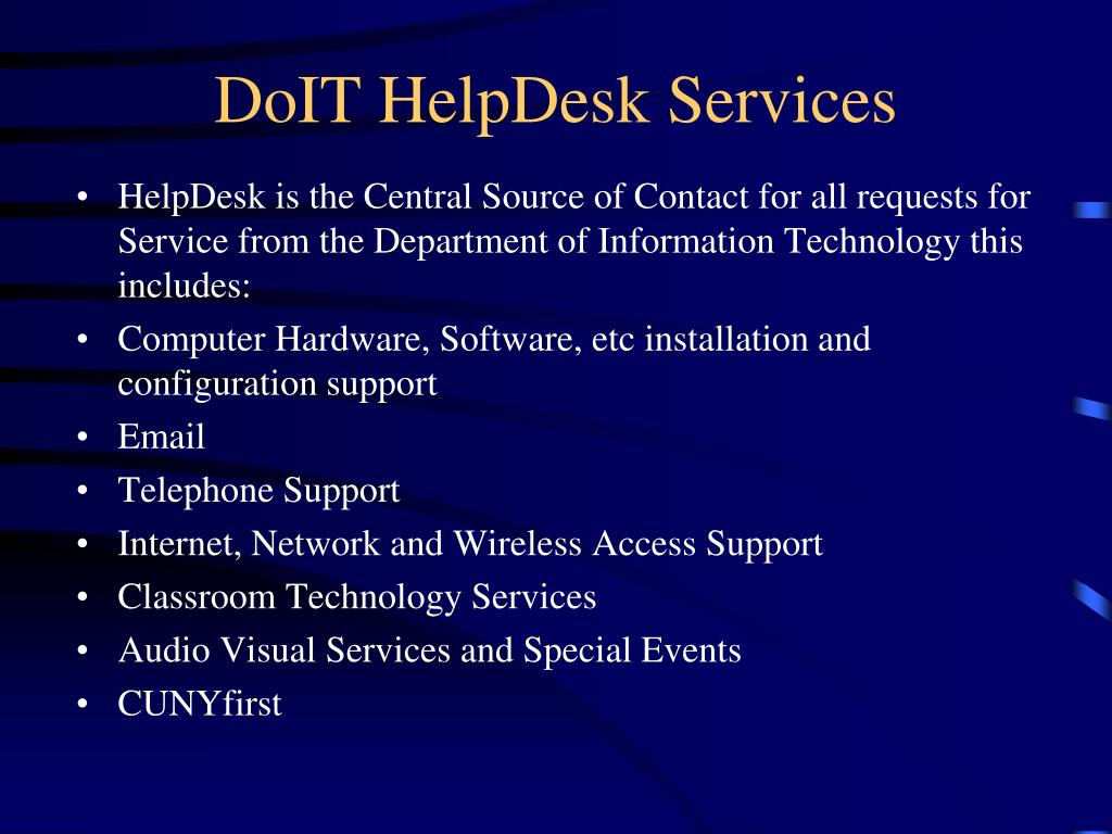 DoIT HelpDesk Services