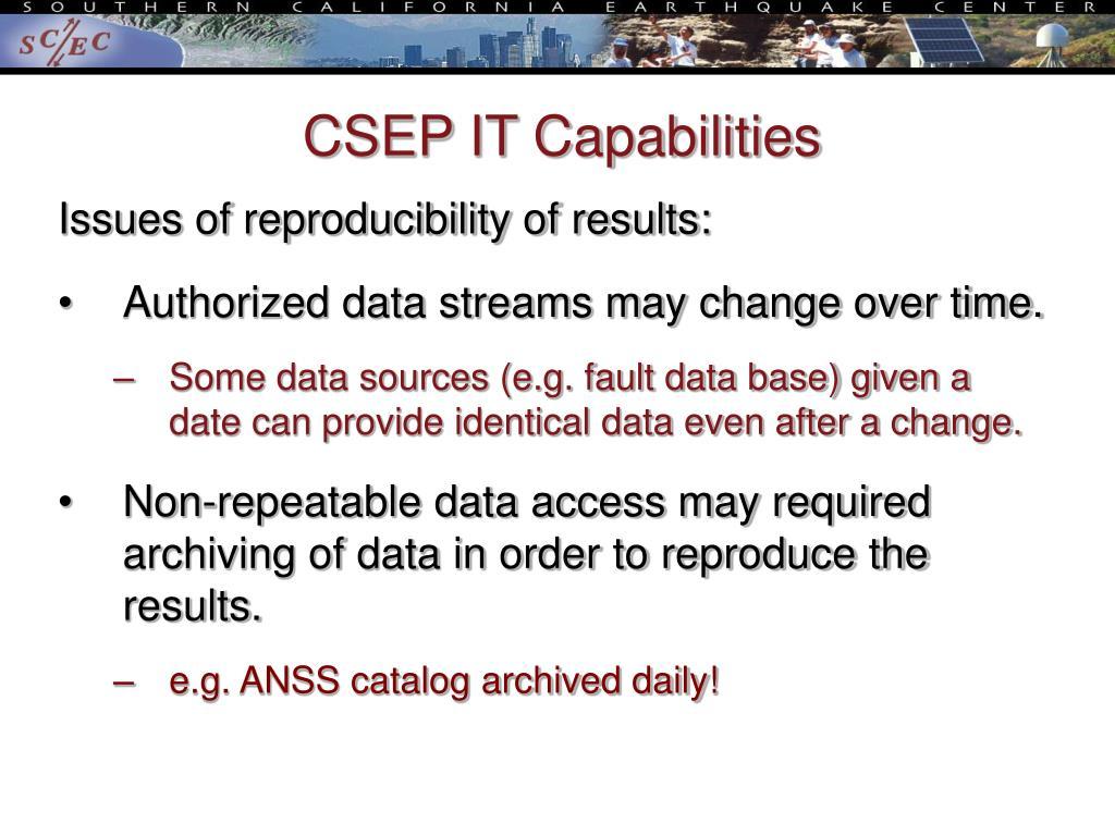 CSEP IT Capabilities