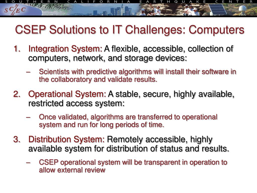 CSEP Solutions to IT Challenges: Computers