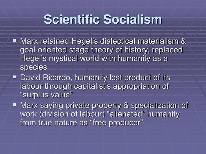 Scientific Socialism