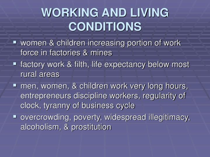 WORKING AND LIVING CONDITIONS