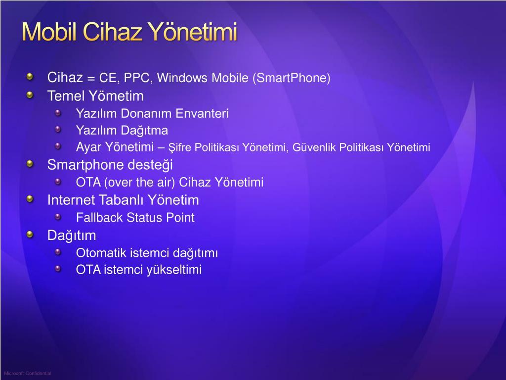Mobil Cihaz Yönetimi
