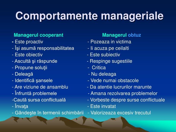 Comportamente manageriale