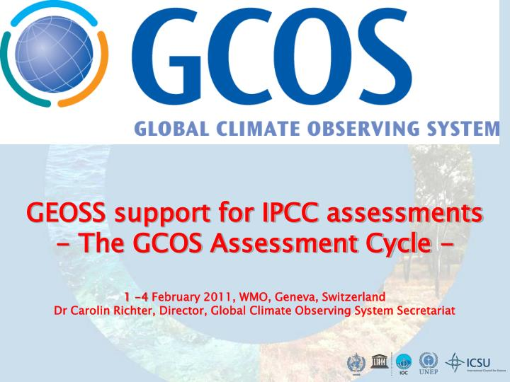 GEOSS support for IPCC assessments