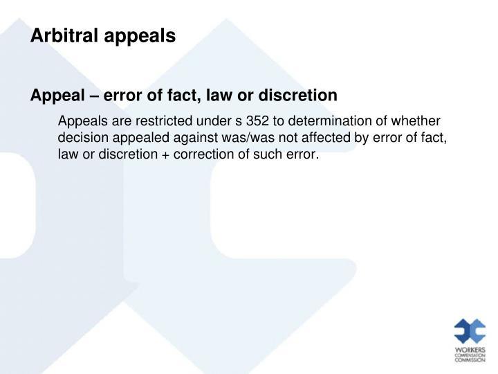 Arbitral appeals