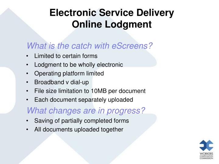 Electronic Service Delivery