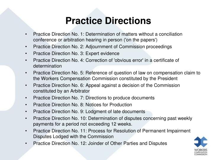 Practice Directions