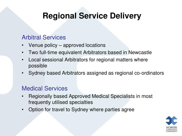 Regional Service Delivery