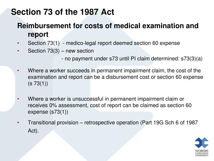 Section 73 of the 1987 Act