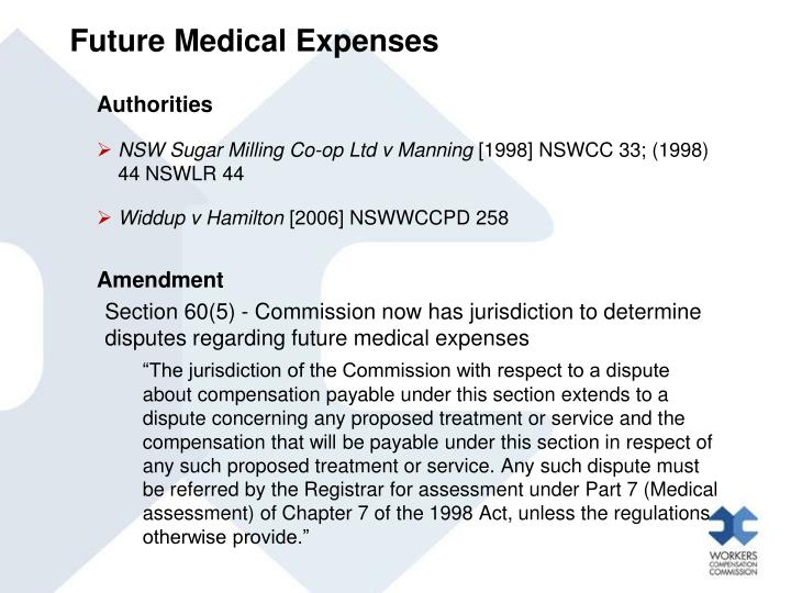 Future Medical Expenses