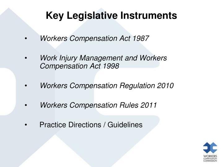 Key Legislative Instruments