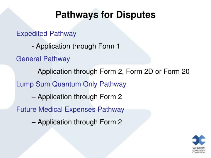 Pathways for Disputes
