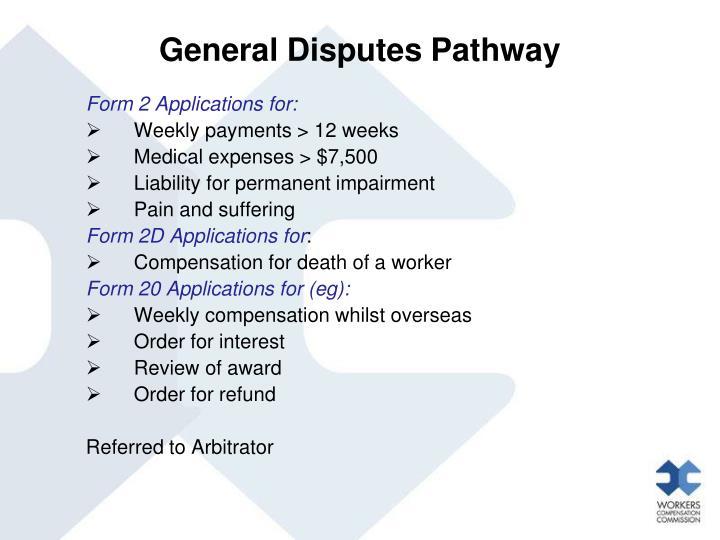 General Disputes Pathway
