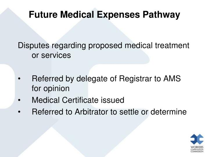 Future Medical Expenses Pathway