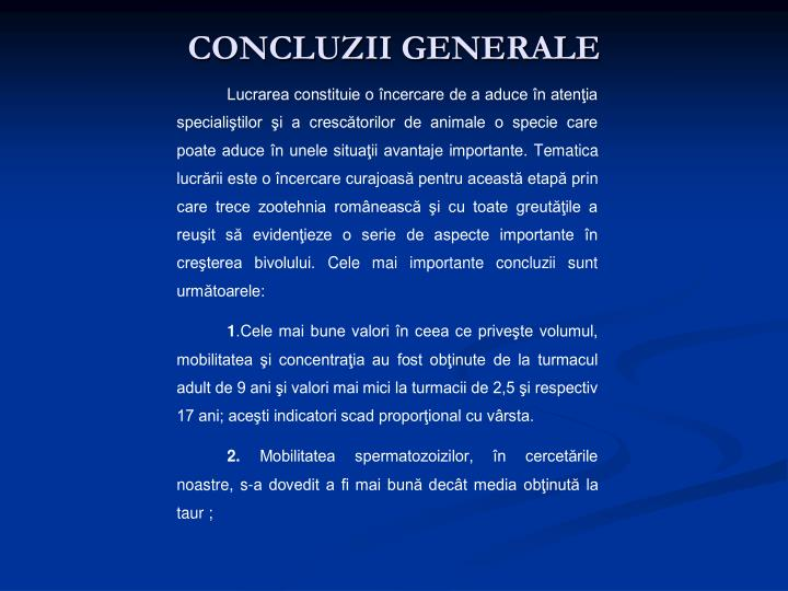 CONCLUZII GENERALE