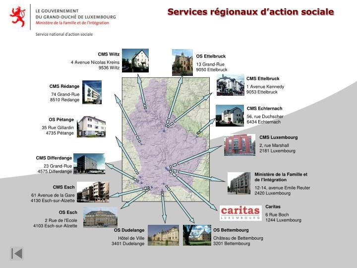 Services régionaux d'action sociale
