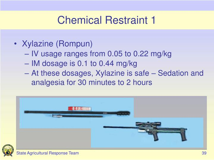 Chemical Restraint 1