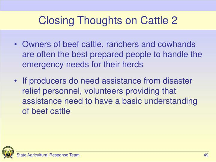 Closing Thoughts on Cattle 2