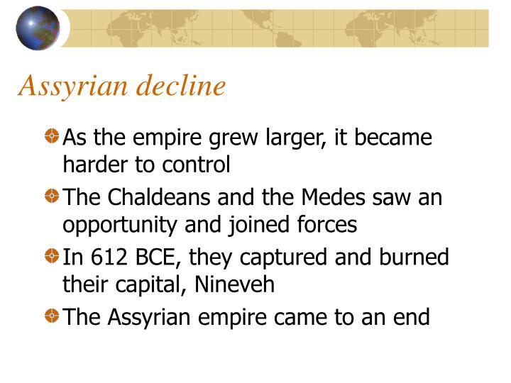 Assyrian decline